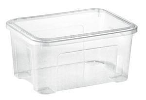 aro Combi Box mit Deckel 13 l Transparent