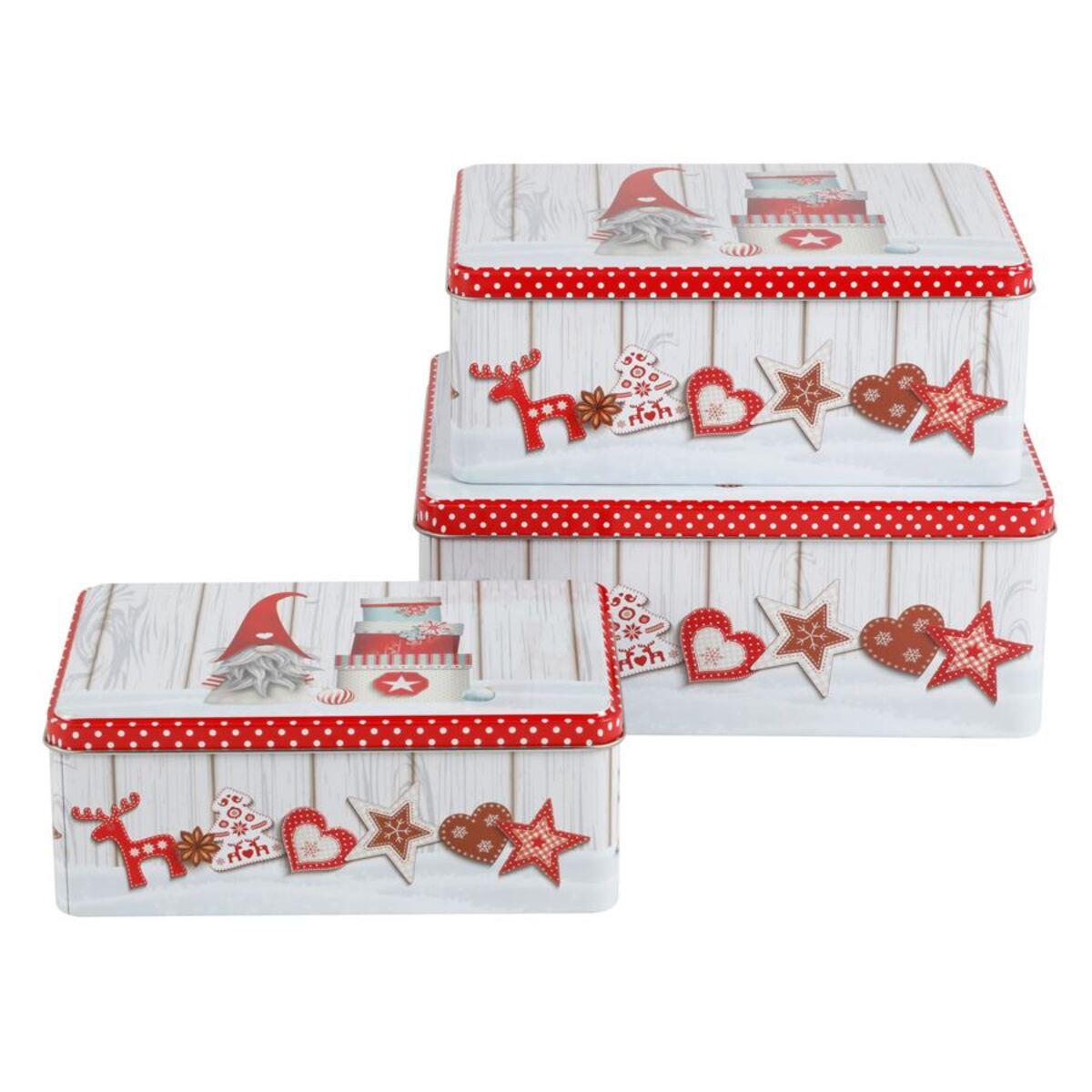 Bild 4 von Weihnachts-Metalldosen-Set rechteckig 3-teilig