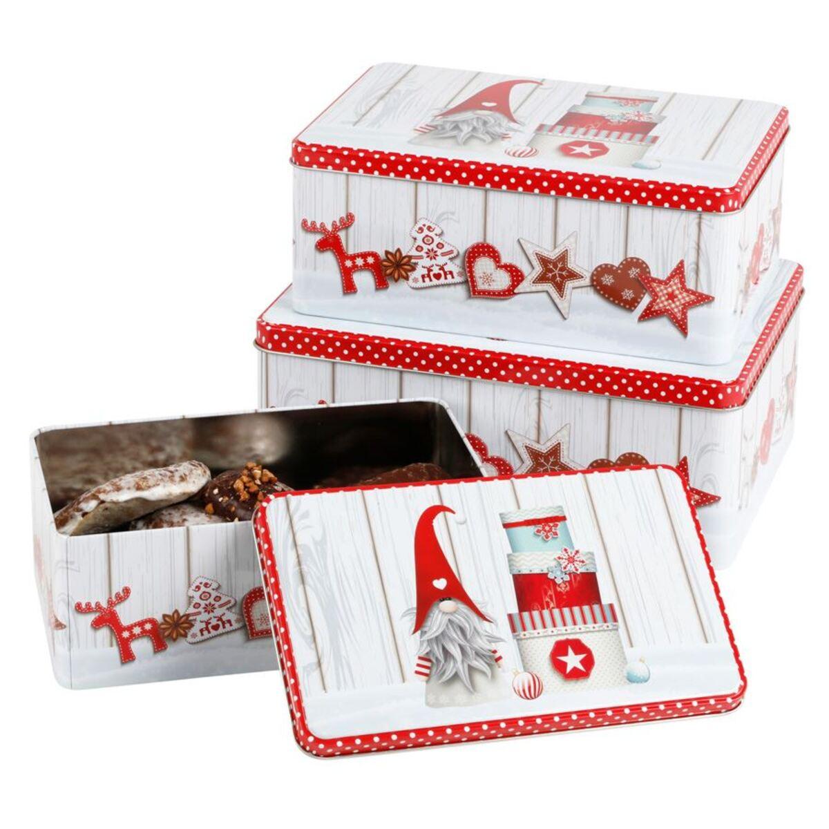 Bild 5 von Weihnachts-Metalldosen-Set rechteckig 3-teilig