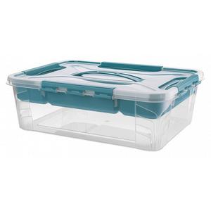 Toptex Ordnung Aufbewahrungsbox, 4,2 l - Aqua-Blau