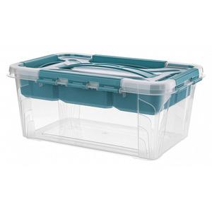 Toptex Ordnung Aufbewahrungsbox, 6,6 l - Aqua-Blau