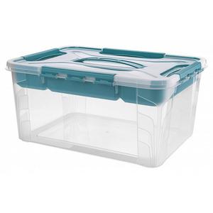 Toptex Ordnung Aufbewahrungsbox, 10 l - Aqua-Blau