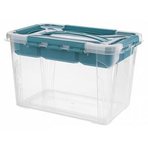Toptex Ordnung Aufbewahrungsbox, 15,3 l - Aqua-Blau