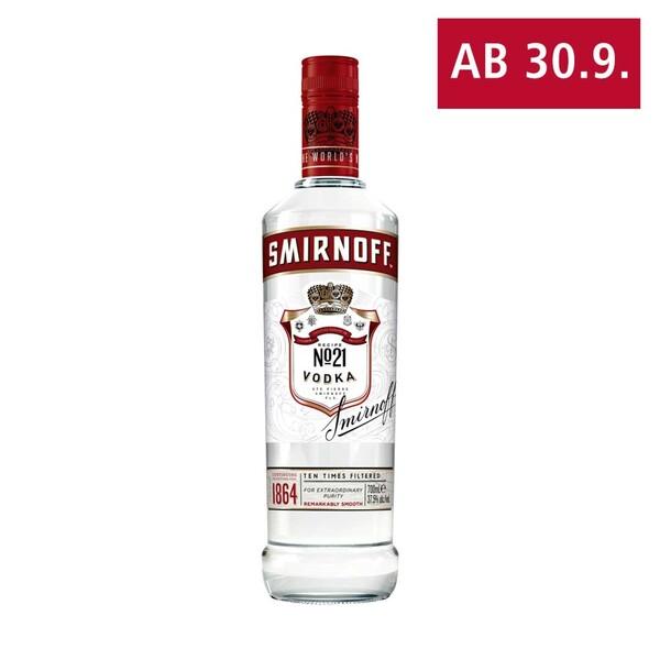Smirnoff Vodka No. 21, 37,5 % Vol., jede 0,7-l-Flasche