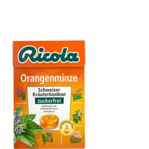 Ricola Orangenminze Bonbons zuckerfrei 50g