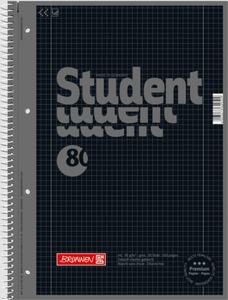 BRUNNEN Collegeblock A4 onyx, kariert