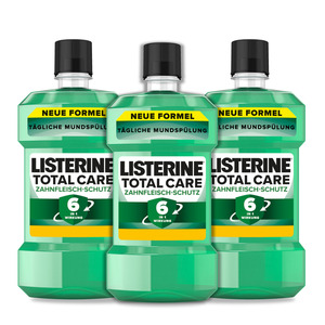 Listerine 3er-Set Mundspülung Total Care Zahnfleisch-Schutz