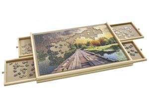 Puzzletisch mit Schubladen