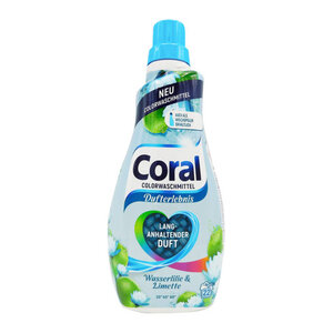 """Coral Flüssigwaschmittel Color """"Wasserlilie & Limette"""""""