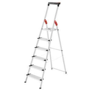 Hailo Sicherheits-Stehleiter 'L75 Comfortline' Aluminium 6 Stufen