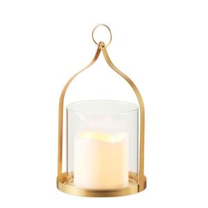 ProVida LED-Glaslaterne inkl. Kerze 20 cm