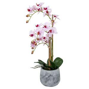 CASA DECO Naturgetreue Orchidee im Topf