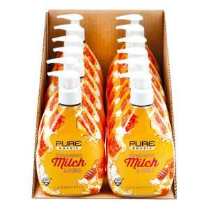 Pure & Basic Cremeseife Milch & Honig 500 ml, 12er Pack