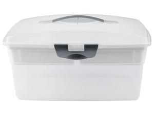 CRELANDO® Näh-/Aufbewahrungsbox, mit Einlegefach
