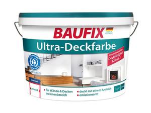 BAUFIX Ultra-Deckfarbe weiß, 5 Liter