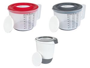 ERNESTO® Mess-/Mixbecher / Quirltopf, mit Spritzschutzdeckel