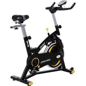 HOMCOM Fahrradtrainer mit stufenlosem Magnetwiderstand schwarz 120 x 47 x 104,5-117 cm (LxBxH)   Heimtrainer Indoor Cycling Fitnessfahrrad