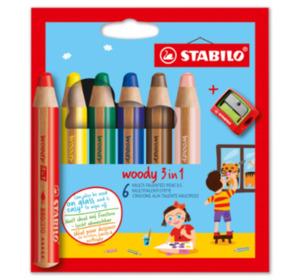 STABILO Buntstifte woody 3 in 1