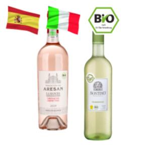 Sontino Chardonnay oder Tradition de Aresan Bio-Weine