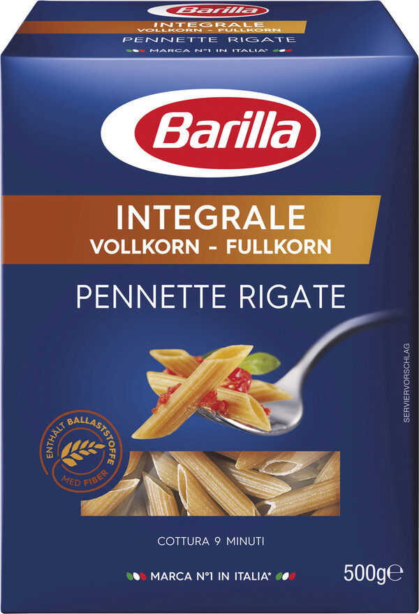 Barilla Nudeln Pennette Rigate Integrale Vollkorn 500 g