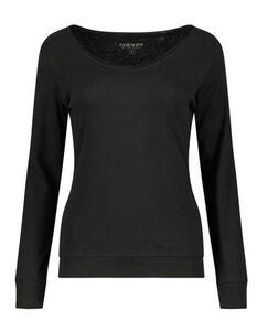 Damen Langarmshirt - V-Ausschnitt
