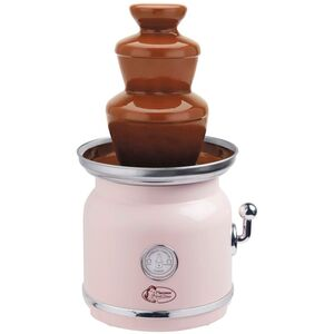 Bestron Schokoladenbrunnen im Retro-Design mit 3 Etagen, Sweet Dreams, 90 Watt, Rosa