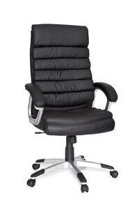 AMSTYLE Bürostuhl VALENCIA Kunstleder Schwarz ergonomisch mit Kopfstütze   Design Chefsessel Schreibtischstuhl mit Wippfunktion   Drehstuhl hohe Rücken-Lehne X-XL 120 kg