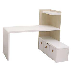 Phoenix Prana Schreibtisch-/ TV-Lowboard-Kom BxHxT cm 142 x 118.2 x 350 Weiss hochglanz