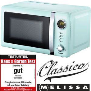 Melissa 16330110 CLASSICO Retro 20 Liter Mikrowelle Pepermint/Babyblue