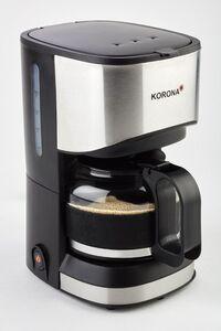 Korona Kaffeeautomat schwarz/silber, 550 Watt