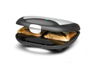 Sandwich Maker ST 710, für 2 Sandwiches, antihaftbeschichtete Toastplatten, schnelles Aufheizen
