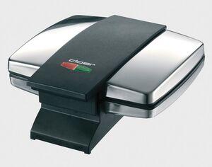Cloer Sandwichmaker Muschelform 930 Watt optische Fertigmeldung durch Backampel