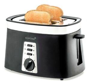 Korona 21200 Toaster, Edelstahlgehäuse, Stoppfunktion, Auftaufunktion, Brötchenrost, Cool Wall