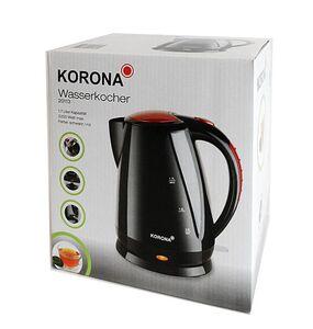 Korona Wasserkocher schwarz/rot, 2200 Watt, 1,7 Liter