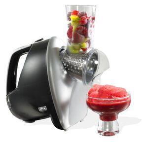 BEEM Eismaschine Sorbet King in schwarz Silber für leckeres Fruchteis