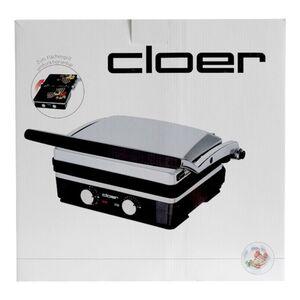 Cloer 6339 Kontaktgrill Edelstahl mattiert