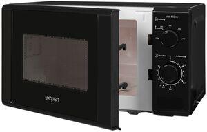 Exquisit Mikrowelle MW 802 Schwarz   700 Watt   Schwarz