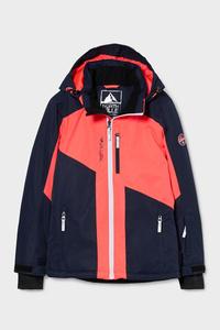C&A Skijacke mit Kapuze-BIONIC-FINISH®ECO, Orange, Größe: 140
