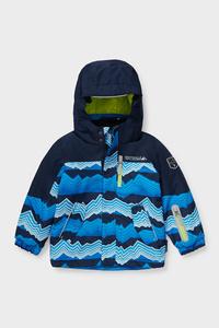 C&A Skijacke mit Kapuze, Blau, Größe: 98