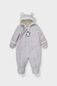 C&A Baby-Schneeanzug-recycelt, Grau, Größe: 56