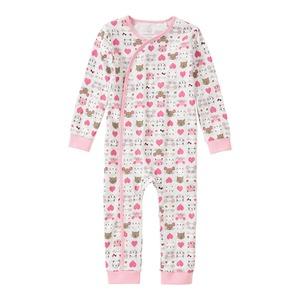 Baby-Mädchen-Schlafanzug mit Bündchen