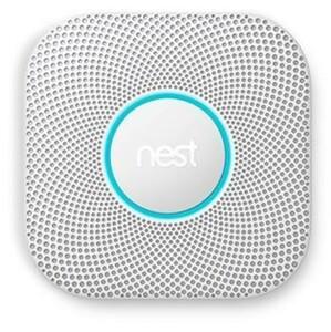 GOOGLE Protect 2. Generation WLAN-Rauchmelder (WLAN, steuerbar per App, kostenloses Nest Konto erforderlich, Batterie erforderlich)