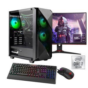 """Hyrican »Striker SET02126« Gaming-PC-Komplettsystem (23,6"""", Core i7, RTX 3060 Ti, 16 GB RAM, 960 GB SSD, Wasserkühlung, inklusive 24"""" Monitor AOC C24G2AE/BK)"""