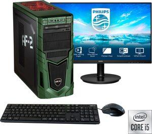 "Hyrican »Military SET02088« Gaming-PC-Komplettsystem (27"", Intel Core i5, RTX 3060, 16 GB RAM, 1 GB SSD, inklusive 27"" Monitor Philips 271V8LA/00)"