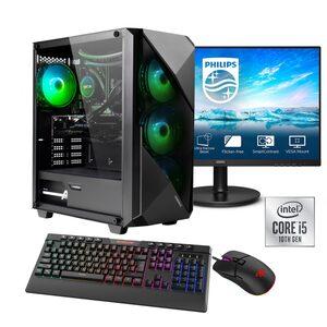 """Hyrican »Striker SET02118« Gaming-PC-Komplettsystem (23,8"""", Core i5, RTX 3060 Ti, 16 GB RAM, 960 GB SSD, Wasserkühlung, inklusive 24"""" Monitor Philips 241V8LA/00)"""