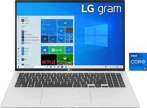 LG 16Z90P-G.AA76G Notebook (40,6 cm/16 Zoll, Intel Core i7, Iris© Xe Graphics, 512 GB SSD, Kostenloses Upgrade auf Windows 11, sobald verfügbar)