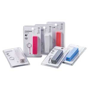 Powerbank, 2200 mAh, ca. 9,5 x 2,5 x 2,5 cm, verschiedene Farben