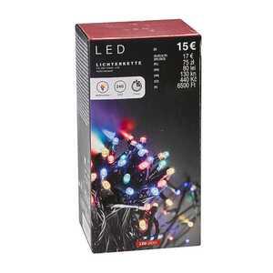 LED Lichterkette mit 240 Dioden, ca. 21 Meter, verschiedene Leuchtfarben