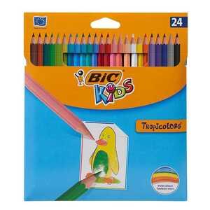 BIC Buntstifte, 24 Stück, mit verschiedenen Farben