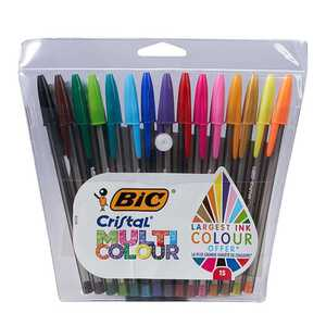BIC Kugelschreiber, 15 Stück, mit verschiedenen Farben